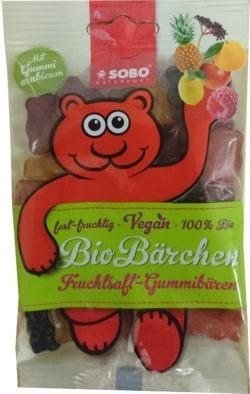 Sobo Bio-Bärchen ohne Gelatine, mit Gummi arabicum 16x75g