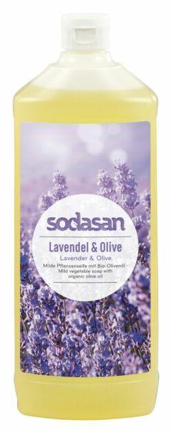 sodasan Flüssigseife Lavendel & Olive Nachfüller 6x1l