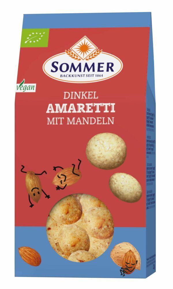 Sommer & Co. Bio Dinkel Amaretti mit Mandeln vegan 6x125g