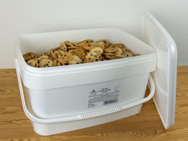 Sommer & Co. Demeter Dinkel Schoko-Orange Cookies, vegan unverpackt im Eimer 5,5kg