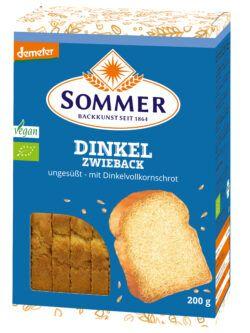 Sommer & Co. Demeter Dinkel-Zwieback, ungesüßt 200g