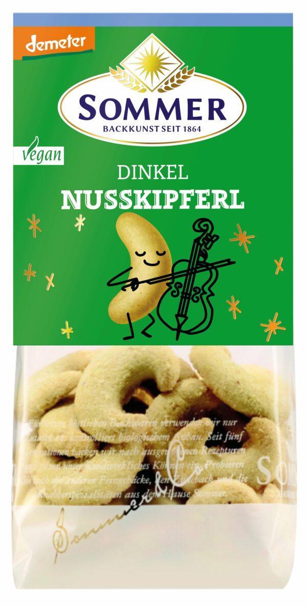 Sommer & Co. Demeter Dinkel Nusskipferl 6x150g