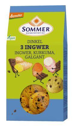 Sommer & Co. Demeter Dinkel 3 Ingwer, vegan 6x150g