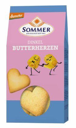 Sommer & Co. Demeter Dinkel Butter Herzen 6x150g
