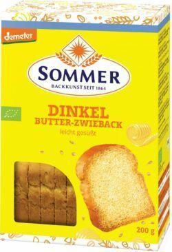Sommer & Co. Demeter Dinkel Butter-Zwieback 6x200g