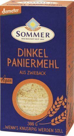 Sommer & Co. Demeter Dinkel Paniermehl aus feinem Zwieback 6x300g