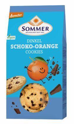 Sommer & Co. Demeter Dinkel Schoko-Orange Cookies, vegan 150g