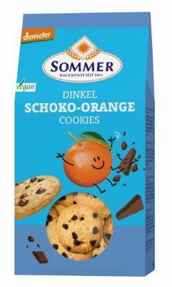 Sommer & Co. Demeter Dinkel Schoko-Orange Cookies, vegan 6x150g