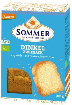 Sommer & Co. Demeter Dinkel-Zwieback, ungesüßt 6x200g