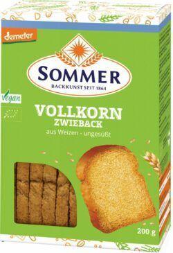 Sommer & Co. Demeter Weizen-Vollkorn Zwieback 6x200g