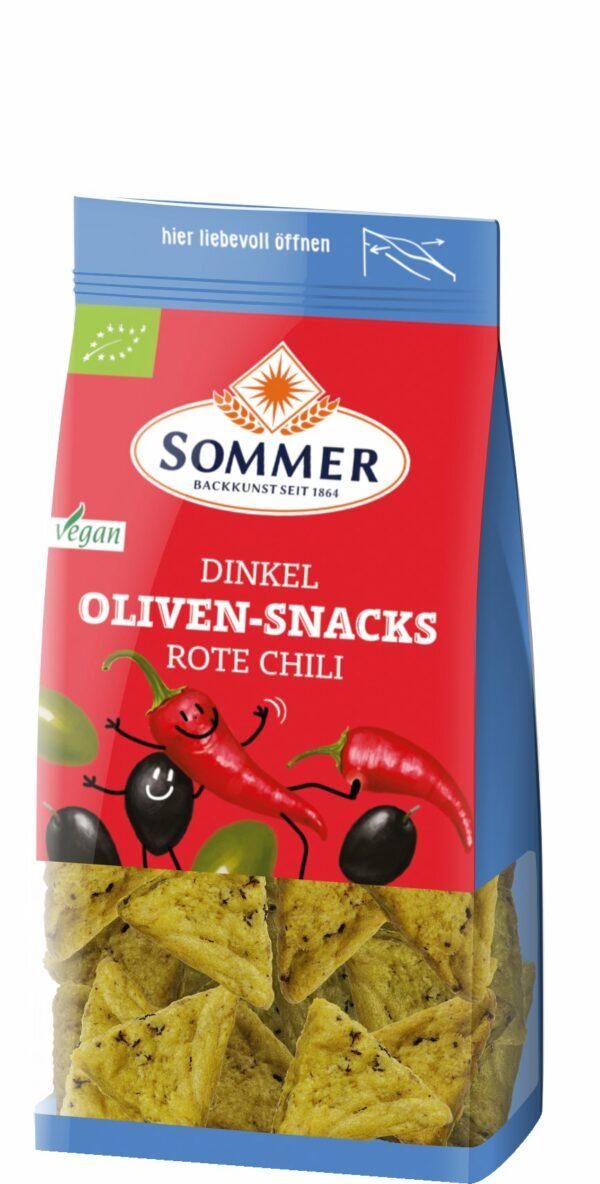 Sommer & Co. Dinkel Oliven-Snacks Rote Chili 150g