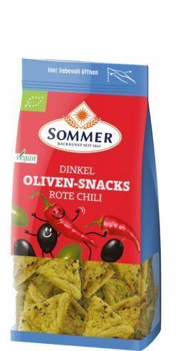 Sommer & Co. Dinkel Oliven-Snacks Rote Chili 6x150g