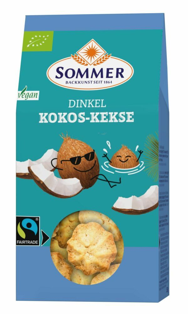 Sommer & Co. FAIRTRADE Dinkel Kokos - Kekse 6x150g