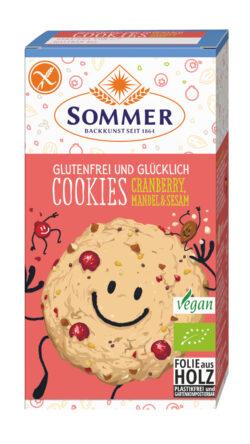 Sommer & Co. Glutenfrei und Glücklich Cookies Cranberry, Mandel & Sesam 125g