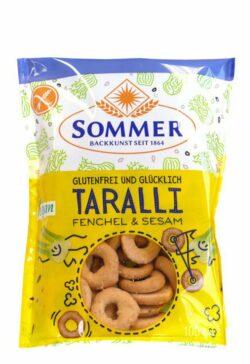 Sommer & Co. Glutenfrei und Glücklich Taralli Fenchel & Sesam 100g