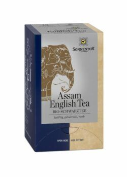 Sonnentor Assam English Tea Schwarztee, Doppelkammerbeutel 6x30,6g