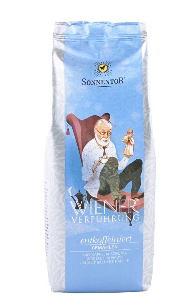 Sonnentor Entkoffeinierter Kaffee gemahlen Wiener Verführung®, Packung 5x500g