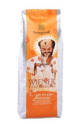 Sonnentor Espresso Kaffee ganze Bohne Wiener Verführung®, Packung 500g