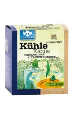 Sonnentor Kühle Kanne Schokominze-Zitronenverbene Tee, Pyramidenbeutel 8x32g
