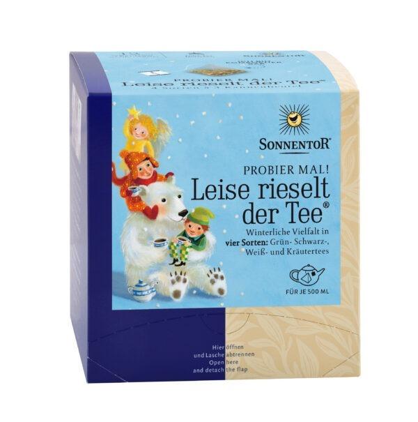 Sonnentor Leise rieselt der Tee® Probier mal!, Kannenbeutel 6x30g