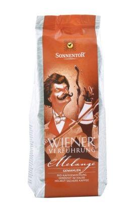 Sonnentor Melange Kaffee gemahlen Wiener Verführung®, Packung 500g
