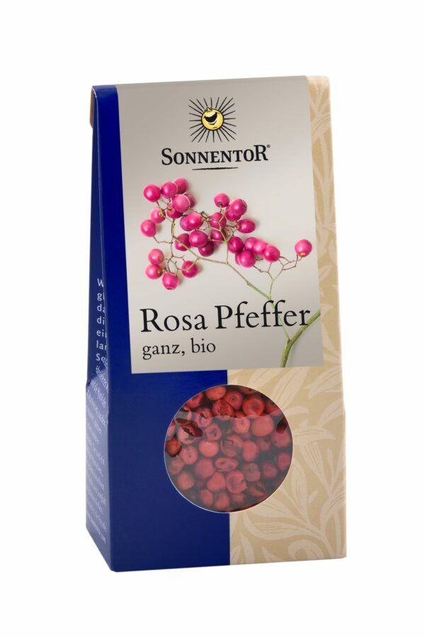 Sonnentor Pfeffer rosa ganz, Packung 6x20g