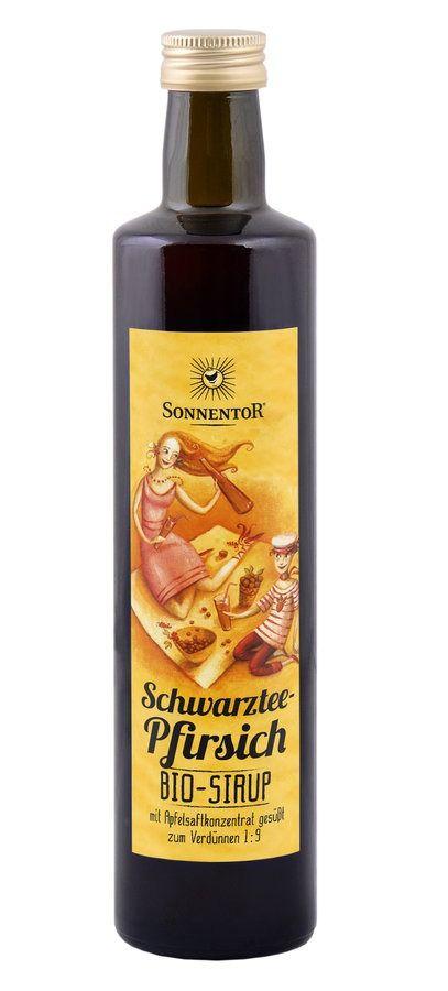 Sonnentor Schwarztee-Pfirsich Eistee Sirup 6x500ml