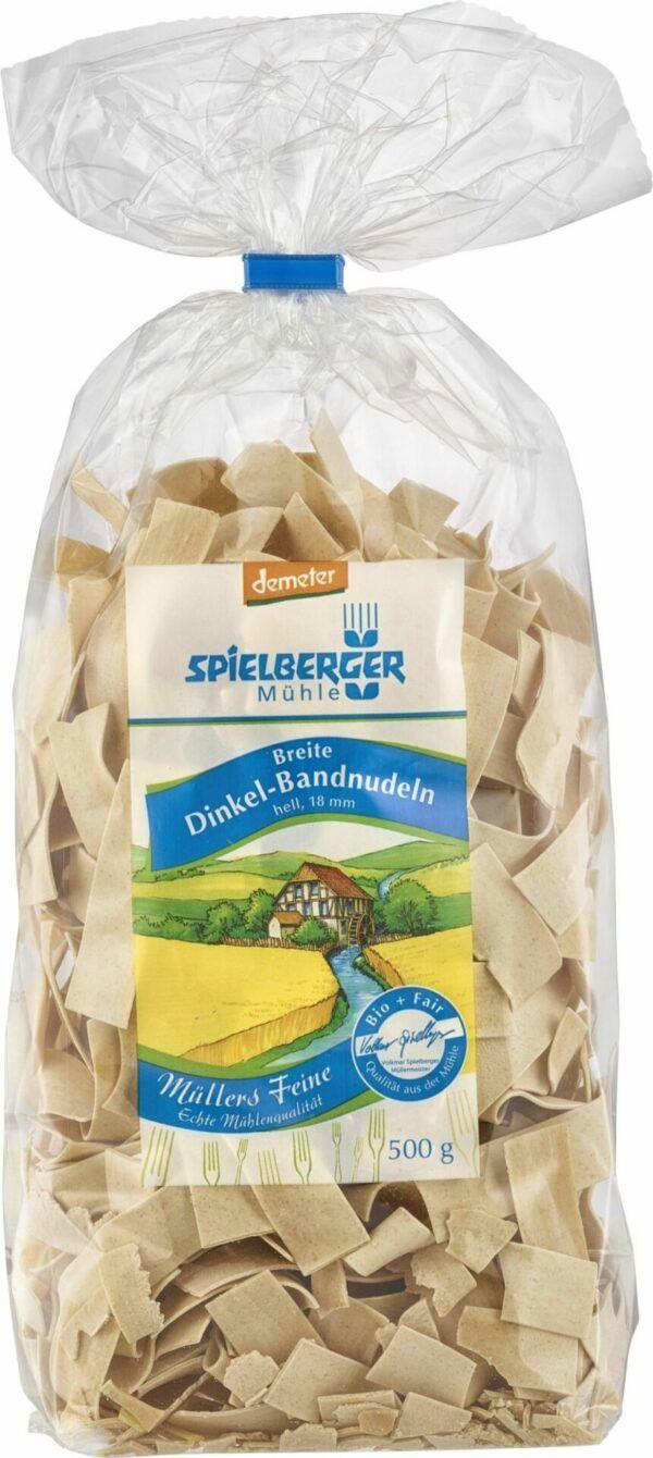 Spielberger Mühle Breite Dinkel-Bandnudeln 18 mm, hell demeter 8x500g
