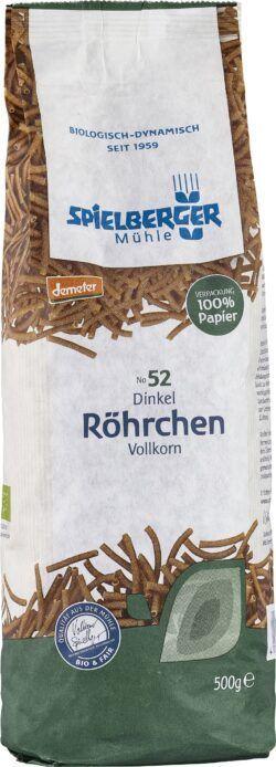 Spielberger Mühle Dinkel-Vollkorn-Röhrchen, demeter 8x500g