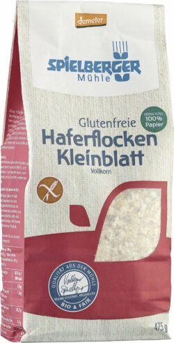 Spielberger Mühle Glutenfreie Haferflocken Kleinblatt, demeter 6x475g
