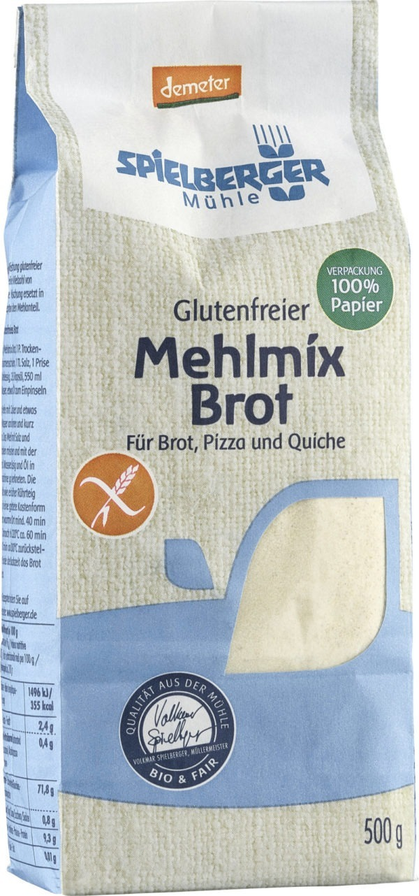 Spielberger Mühle Glutenfreier Mehlmix Brot 500g