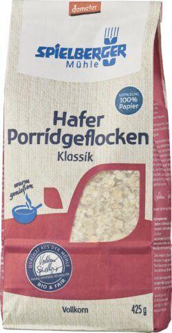 Spielberger Mühle Hafer Porridgeflocken Klassik, demeter 6x425g