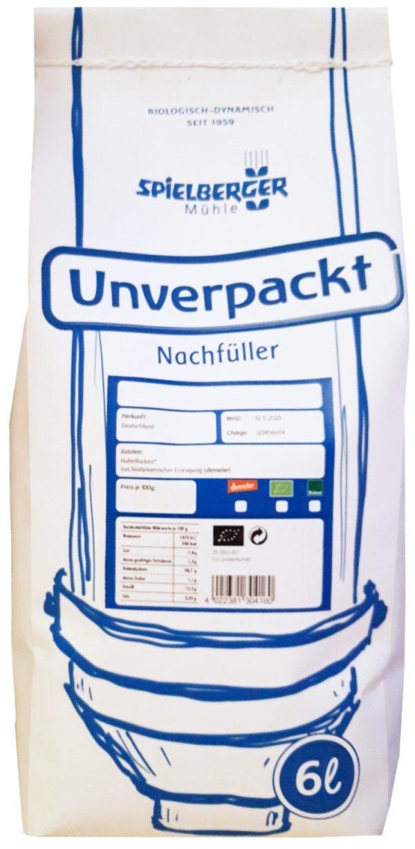 Spielberger Mühle Haferflocken Großblatt, Bioland - für Unverpackt-Stationen 2,5kg