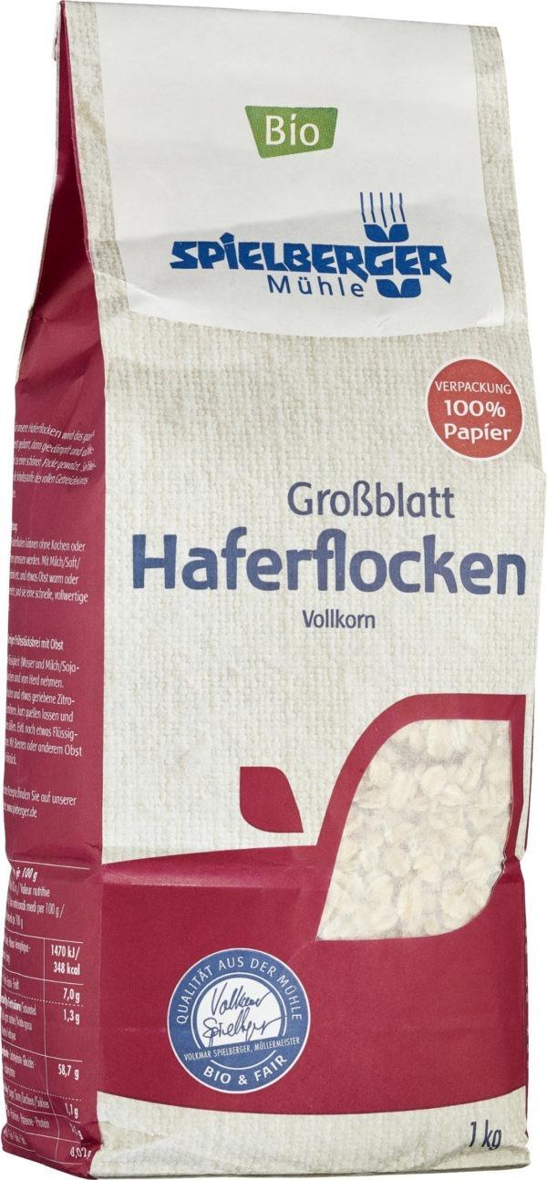 Spielberger Mühle Haferflocken Großblatt, kbA 6x1kg