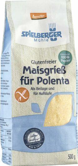 Spielberger Mühle Polenta (Maisgrieß), demeter glutenfrei 4x500g