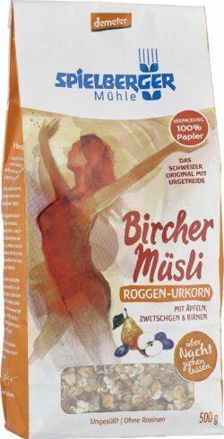 Spielberger Mühle Roggen-Urkorn-Birchermüsli, demeter 6x500g