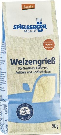 Spielberger Mühle Weizengrieß, demeter 4x500g