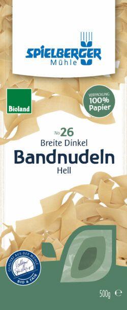 Spielberger Mühle Breite Dinkel-Bandnudeln hell, bioland 8x500g