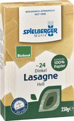 Spielberger Mühle Dinkel Lasagne, hell, bioland 10x250g