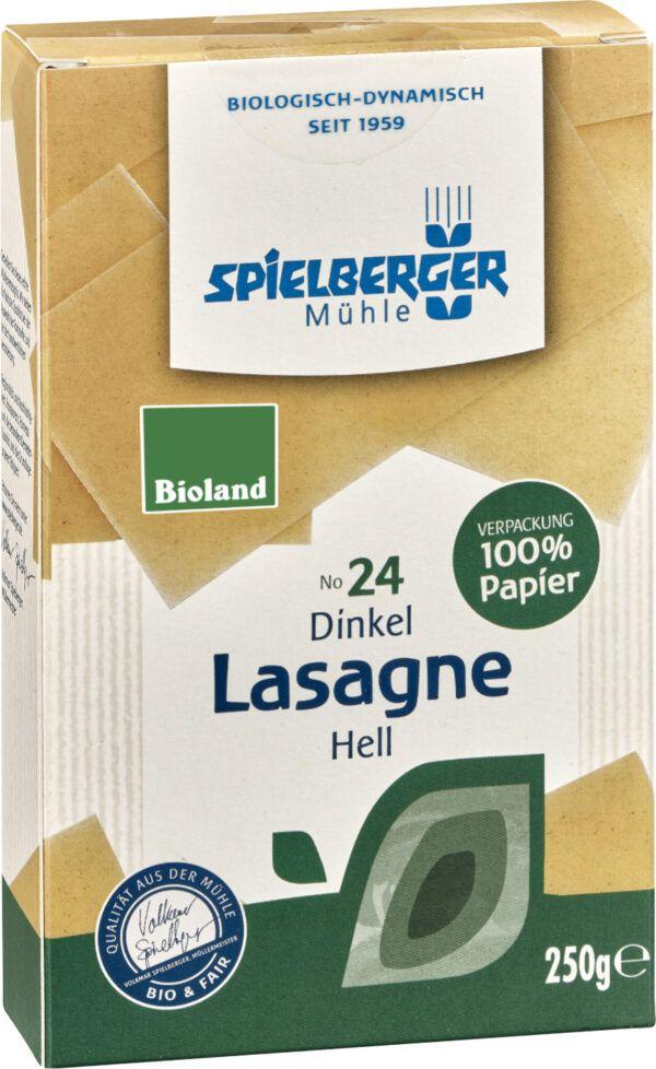 Spielberger Mühle Dinkel Lasagne, hell, bioland 250g