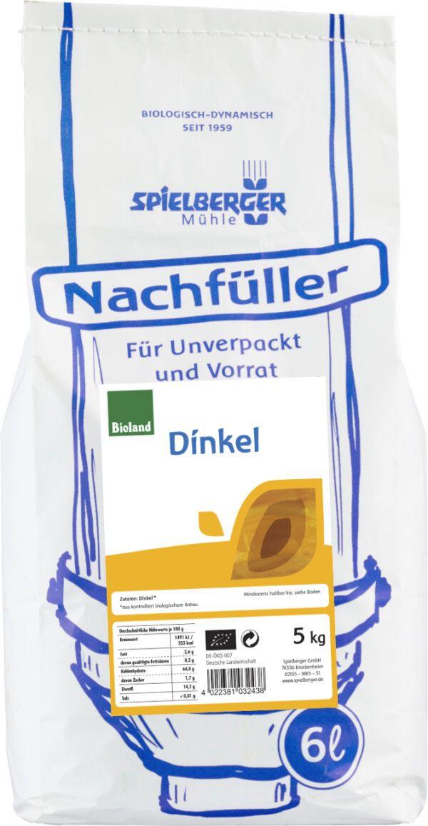 Spielberger Mühle Dinkel, bioland - Nachfüller für Unverpackt und Vorrat 5kg