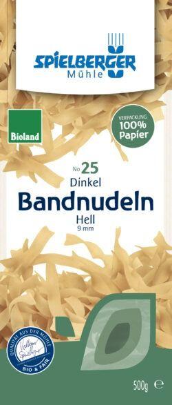 Spielberger Mühle Dinkel-Bandnudeln hell, 9 mm, bioland 8x500g