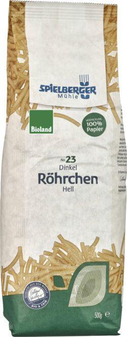 Spielberger Mühle Dinkel-Röhrchen hell, bioland 500g