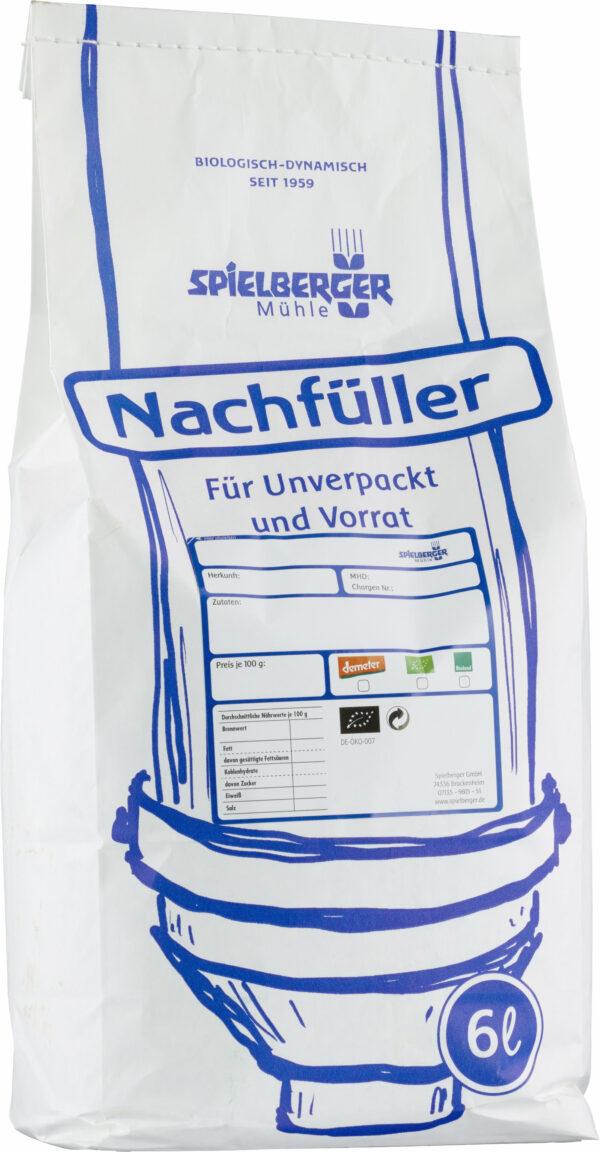 Spielberger Mühle Dinkel-Spiralen hell, bioland - Nachfüller für Unverpackt und Vorrat 2kg