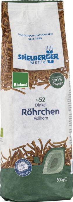 Spielberger Mühle Dinkel-Vollkorn-Röhrchen, bioland 8x500g