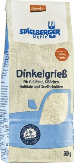 Spielberger Mühle Dinkelgrieß, demeter 4x500g