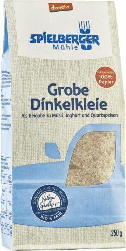 Spielberger Mühle Dinkelkleie grob, demeter 6x250g