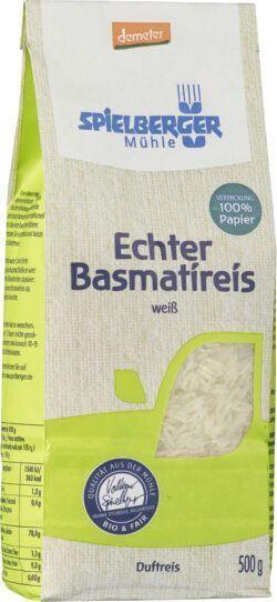 Spielberger Mühle Echter Basmatireis, weiß, demeter 4x500g