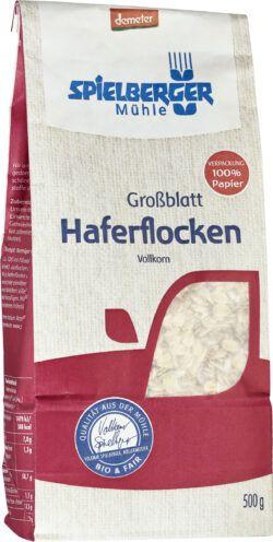 Spielberger Mühle Haferflocken Großblatt, demeter 6x500g