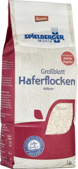 Spielberger Mühle Haferflocken Großblatt, demeter 1kg